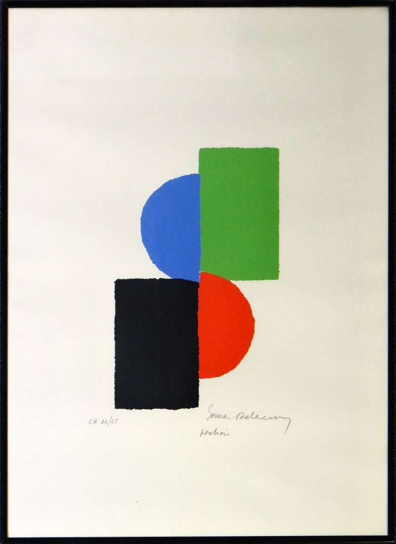 "Sonia Delaunay-Terk ""Composition in Red, Blue and"