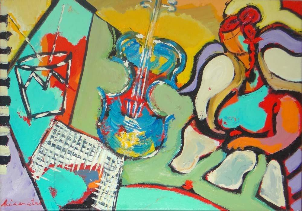 Bisenstat acrylic painting