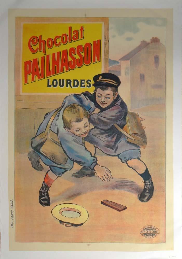 Chocolate Pailhasson Lourdes vintage poster