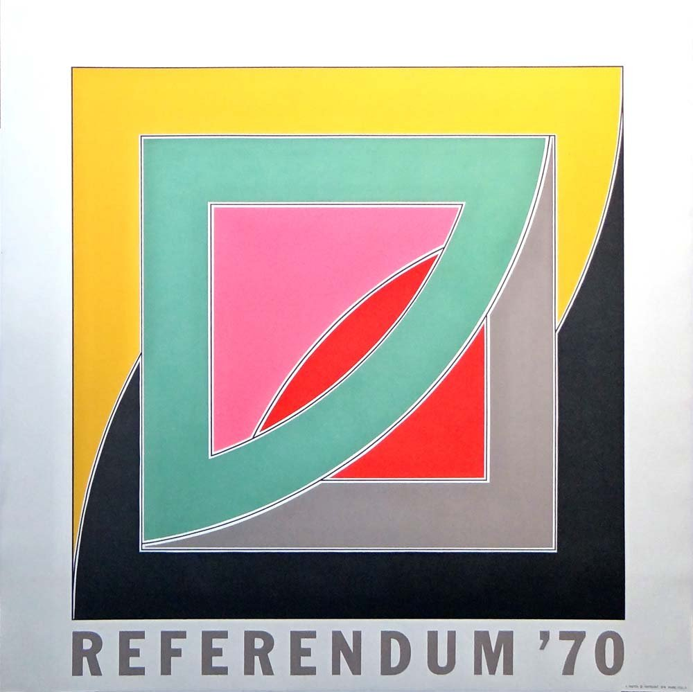 "Frank Stella ""Referendum '70"""