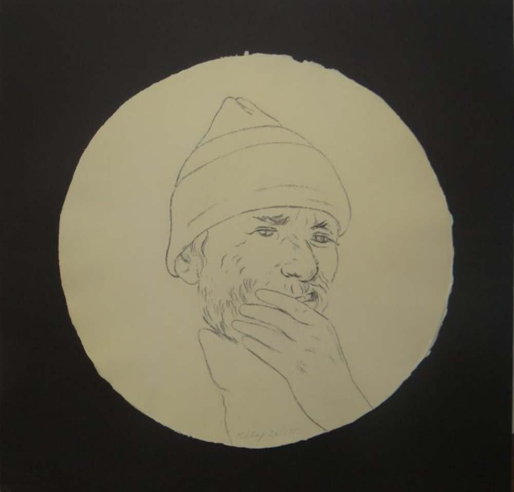 """R.B. Kitaj """"Self-Portrait in a Convex Mirror"""""""