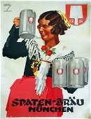 "Ludwig Hohlwein ""Spaten-Brau"" antique poster"