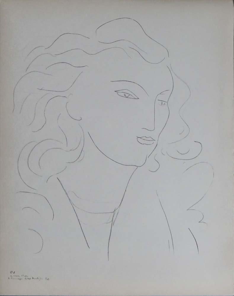 "Henri Matisse from ""Dessins Themes et Variations"""