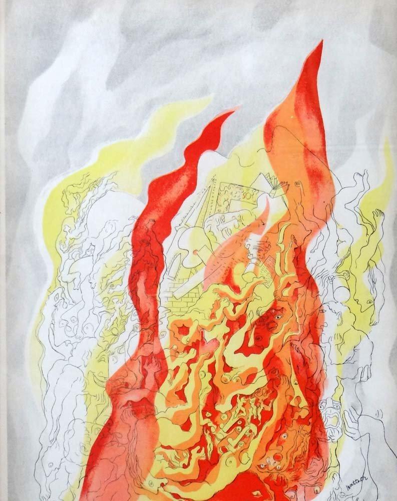 """Abraham Rattner """"Fire"""""""