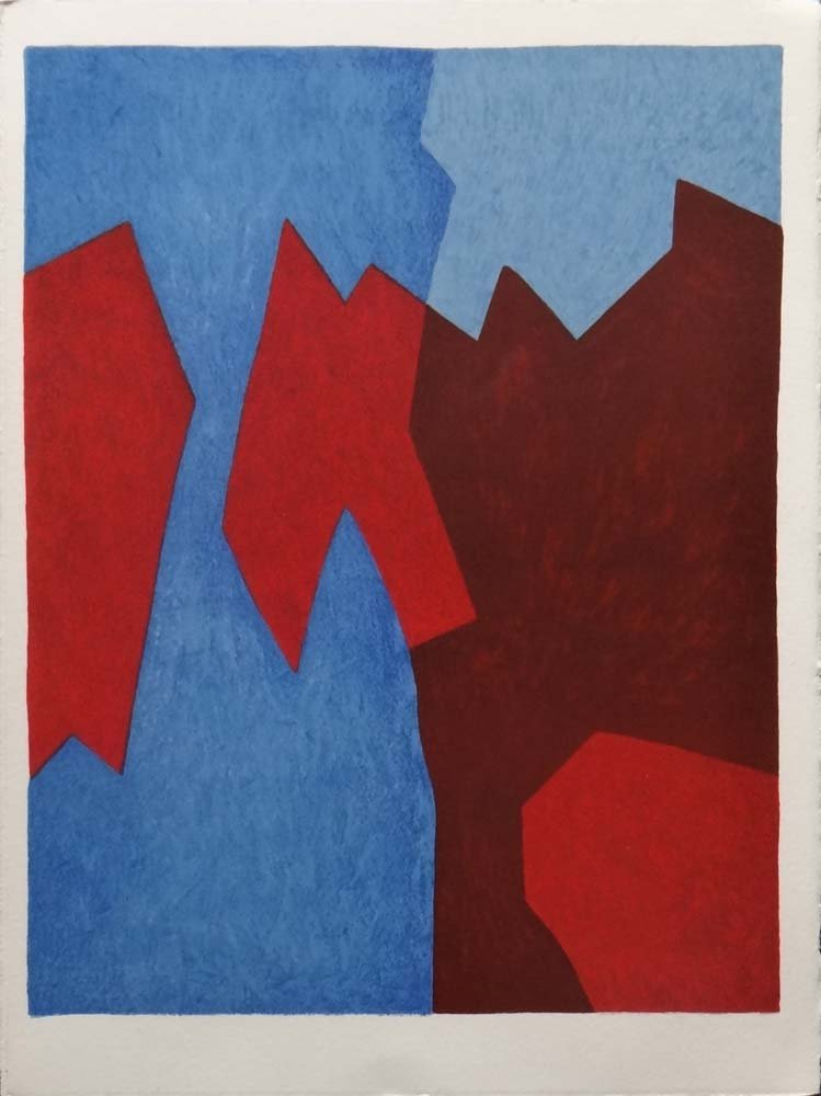 """Serge Poliakoff """"Composition in Red and Blue"""""""