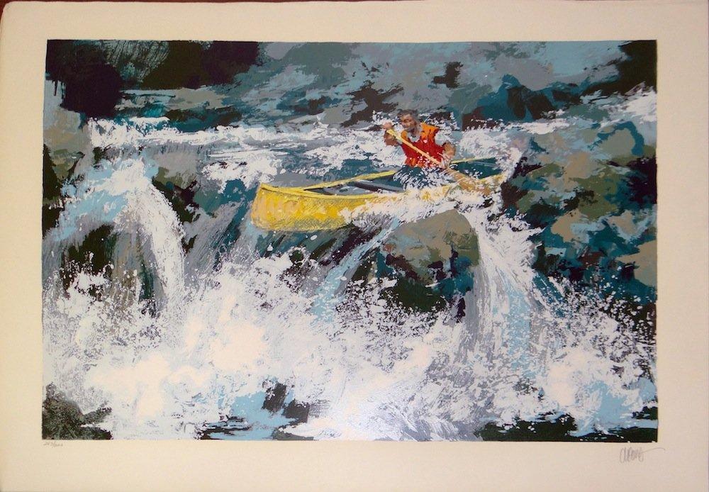 "Wayland Moore ""White Water"" serigraph"