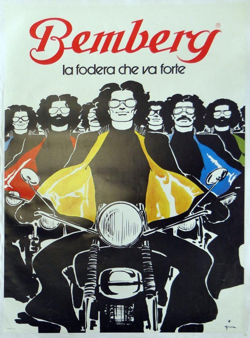 "Rene Gruau ""Bemberg"" antique poster"