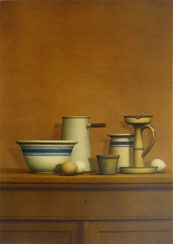 "William Bailey ""Still Life with Eggs, Candlestick and"