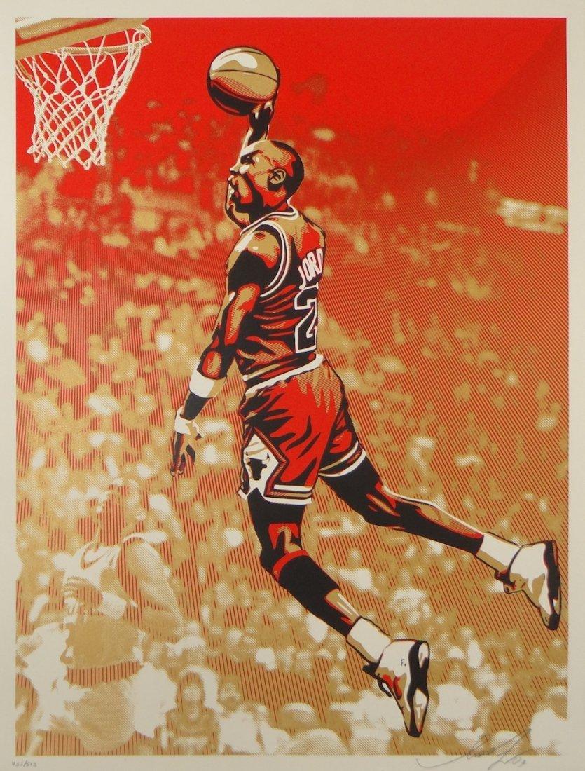 "Shepard Fairey ""Michael Jordan"" silkscreen"