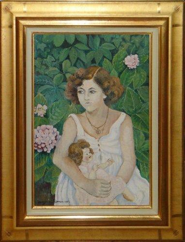 "Manzana Pissarro ""Chantal et sa Poupee"""