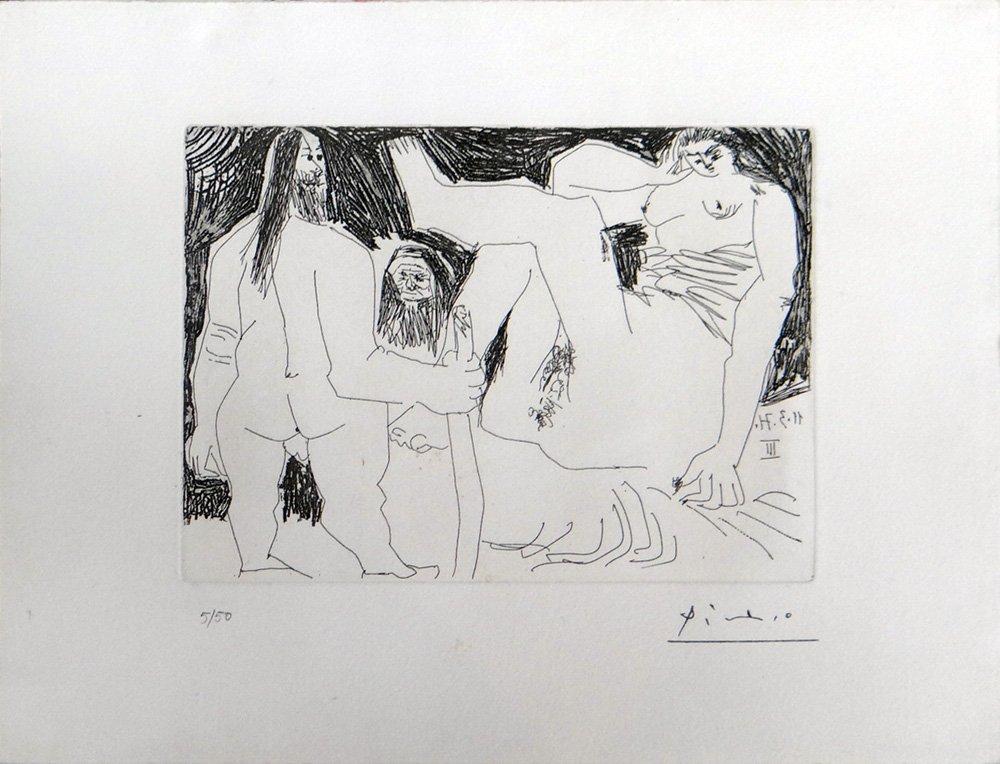"""Pablo Picasso """"Homme Primitif, Celestine et Fille"""""""