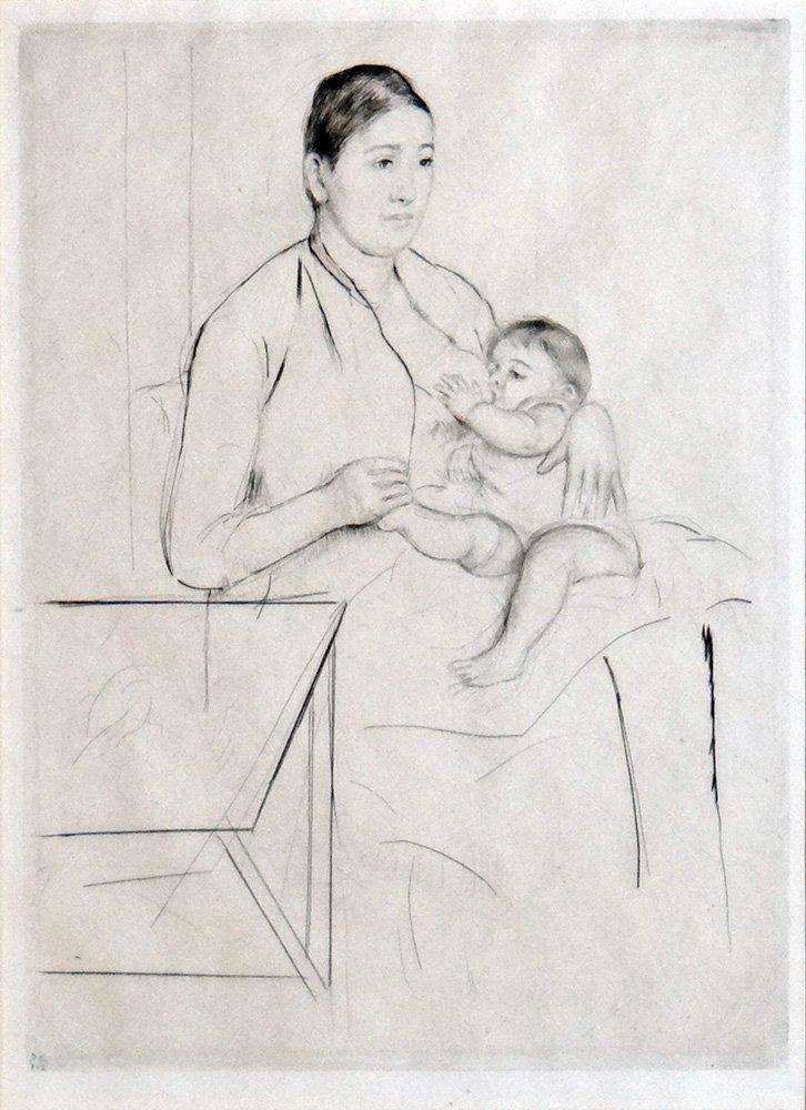 """Mary Cassatt """"Nursing"""""""