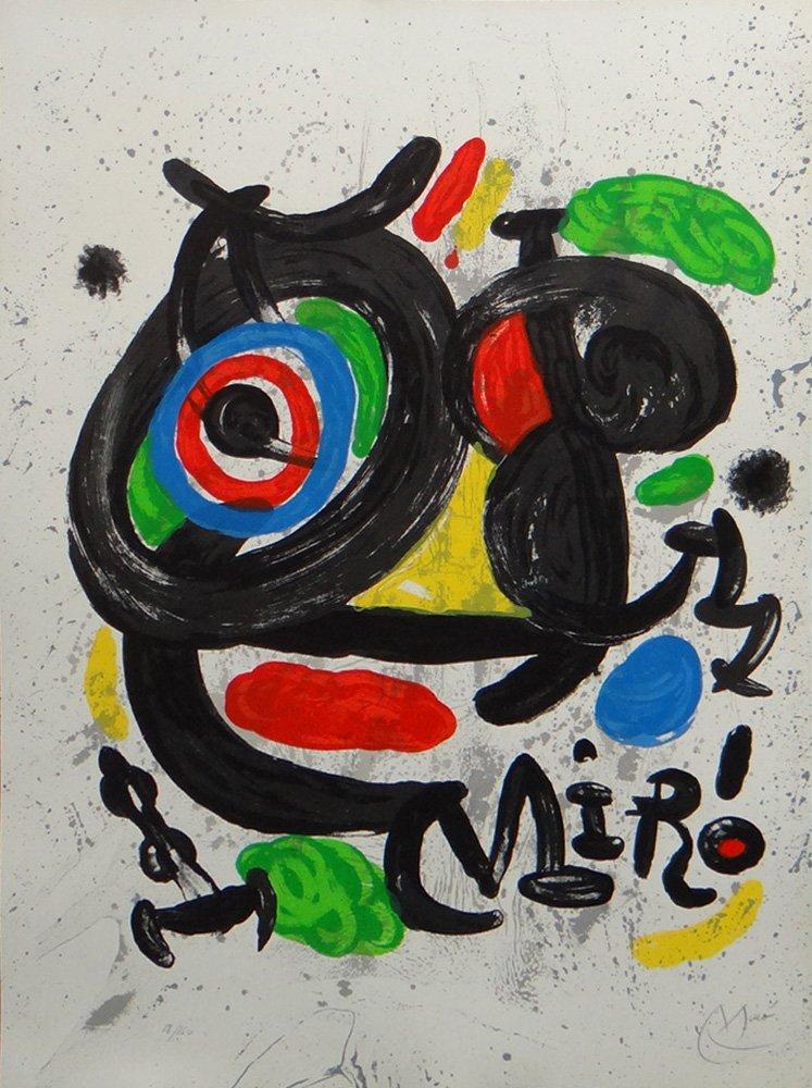 """Joan Miro """"Affiche pour L'exposition Miro sculptures"""""""