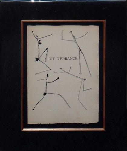 """Pablo Picasso """"Dit D'Errance"""""""