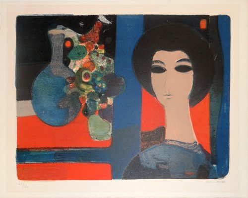 """Andre Minaux """"Untitled (Still Life with Portrait)"""""""
