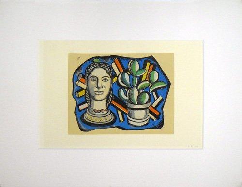 """Fernand Leger """"Tete et Cactus"""""""