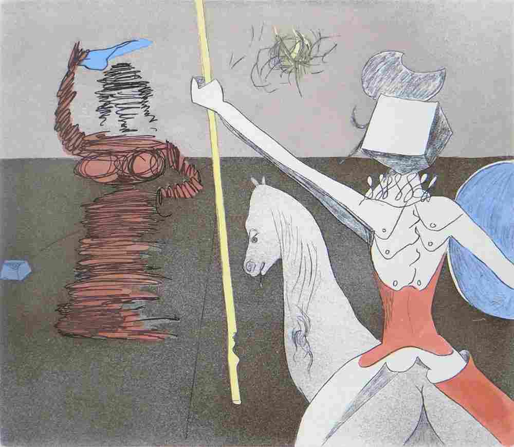 "Salvador Dali ""Off to Battle"""
