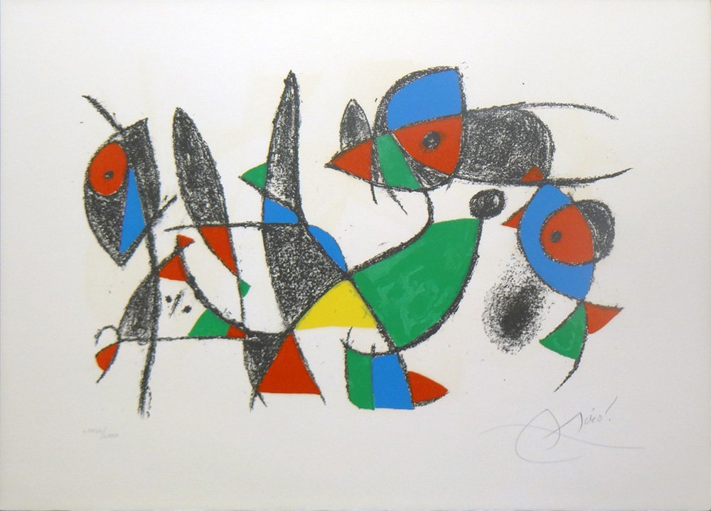 "Joan Miro one plate from ""Lithograph II"""