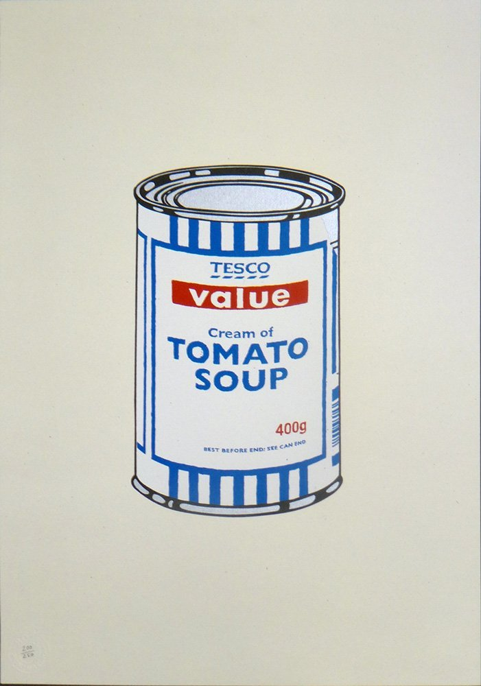 "Banksy ""Soup Can"""