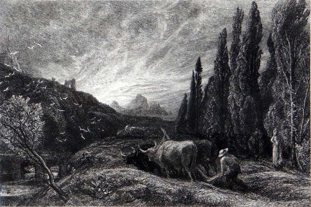 """Samuel Palmer """"The Early Ploughman. The Morning Spread"""