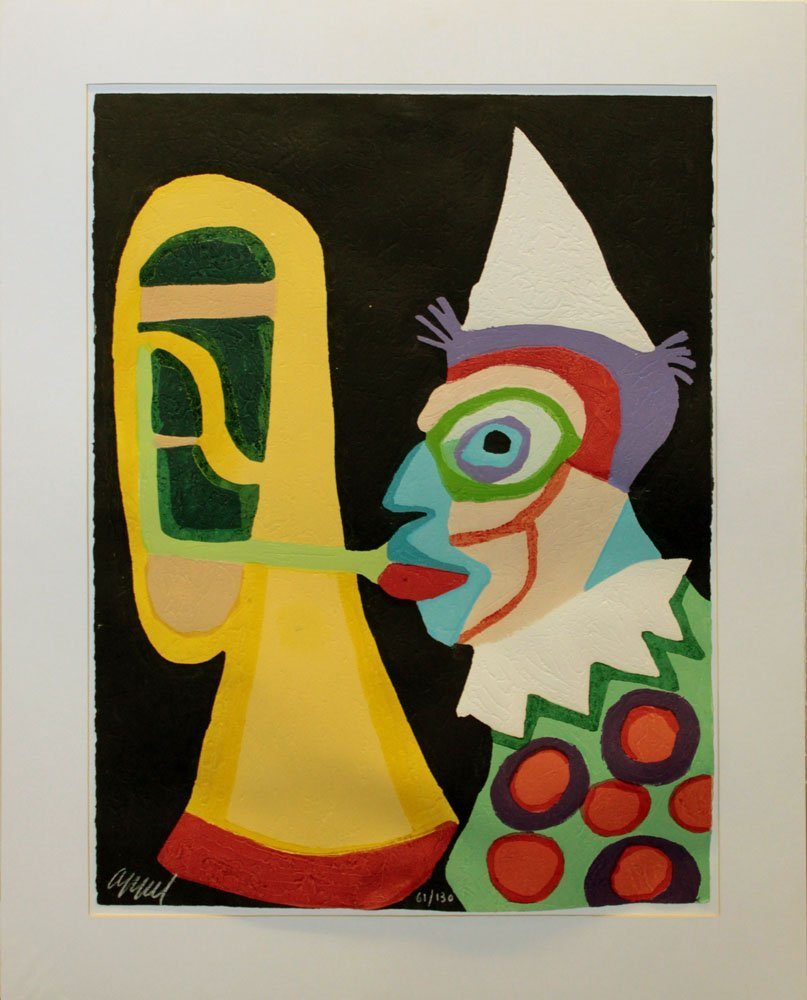 "Karel Appel ""Clown d'Amsterdam"""