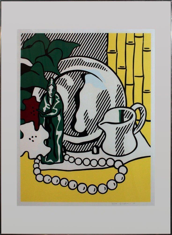 """Roy Lichtenstein """"Still Life with Figurine"""""""
