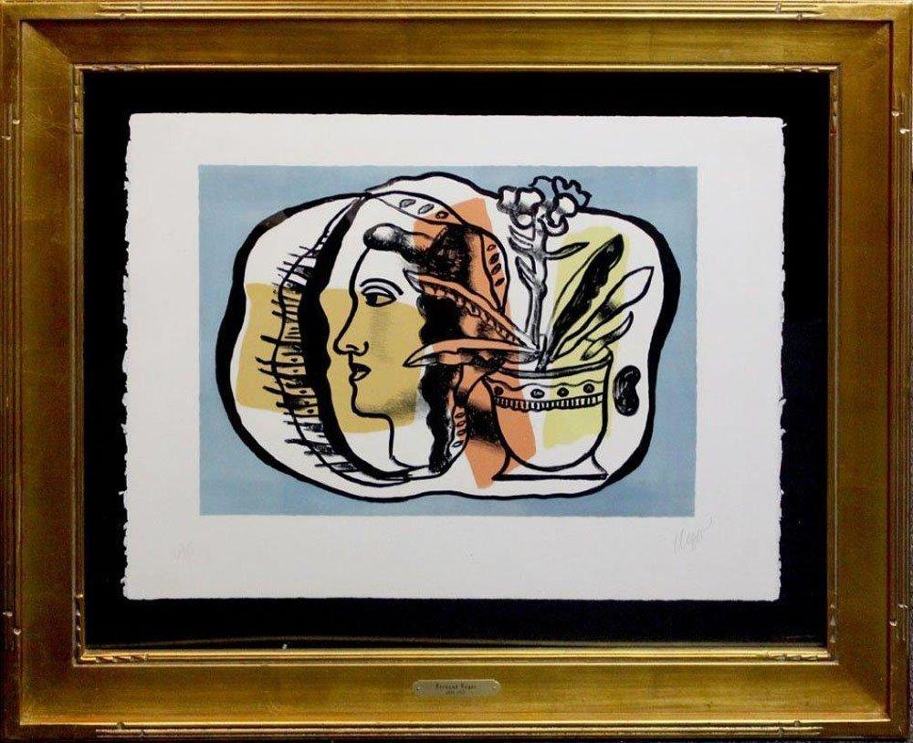 """Fernand Leger """"Composition au Profile"""""""
