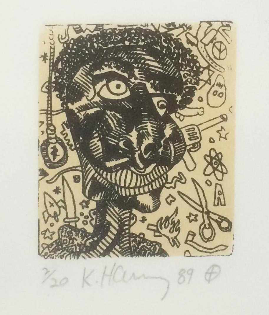 """Keith Haring """"Untitled Etching"""""""