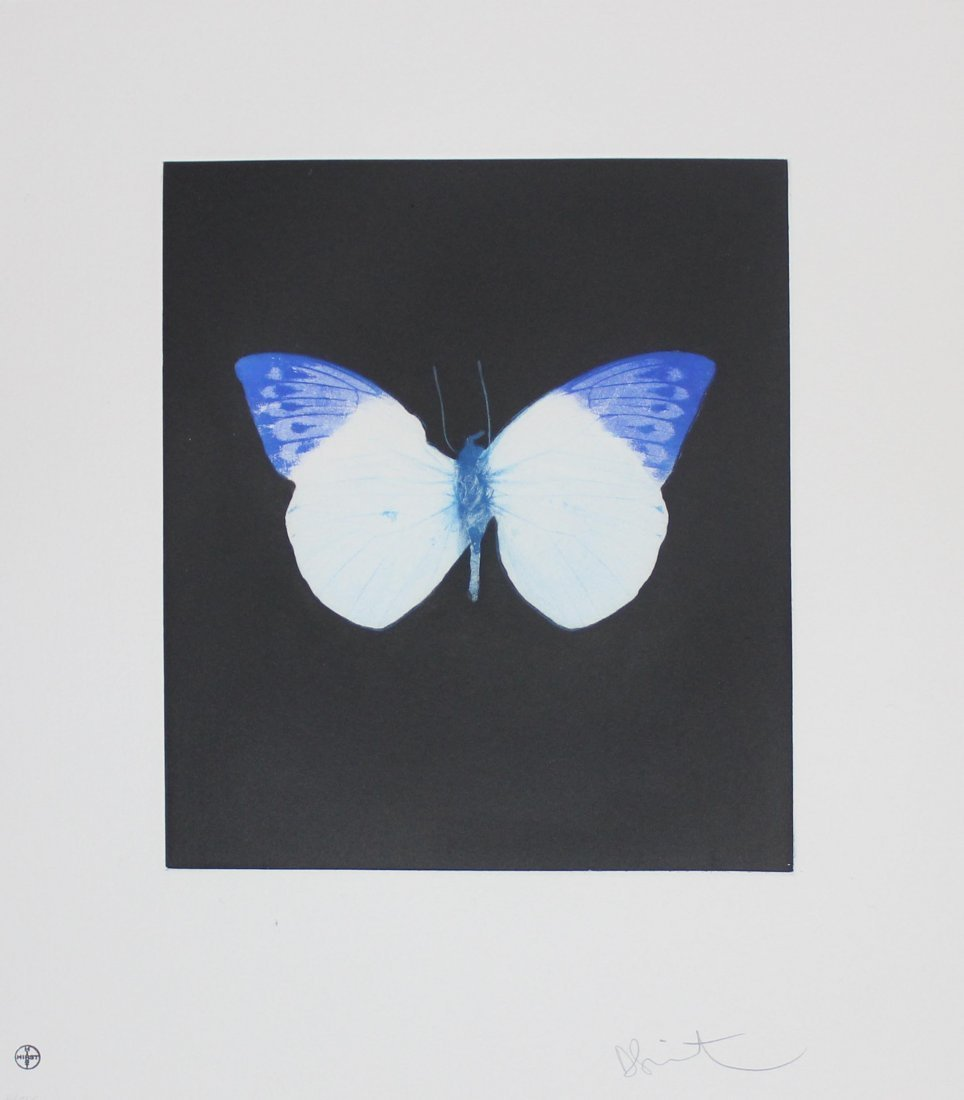 """Damien Hirst """"Life"""" Butterfly Etching"""