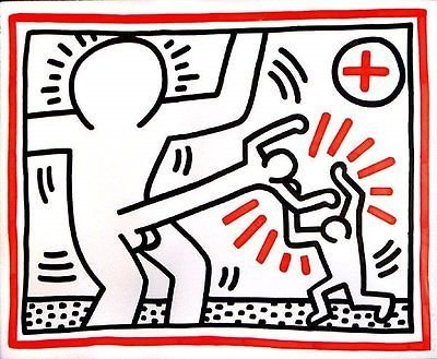 """Keith Haring \""""Untitled (Cockfight)\"""""""""""""""