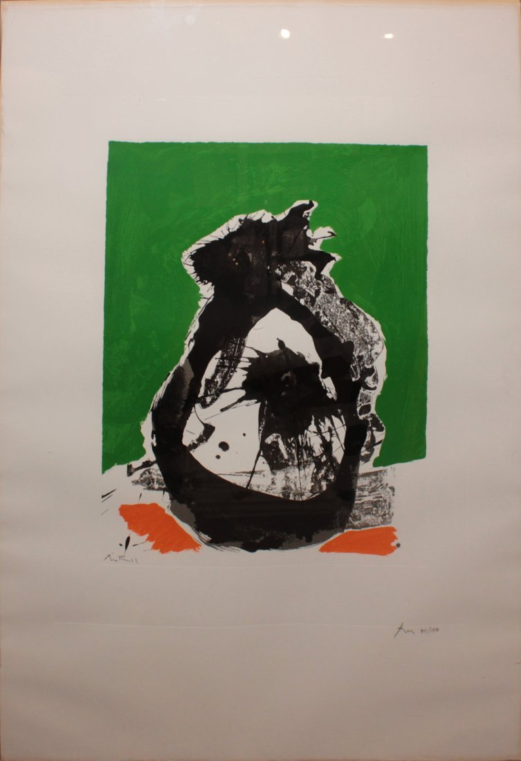"""Robert Motherwell one plate from """"The Basque Suite"""""""