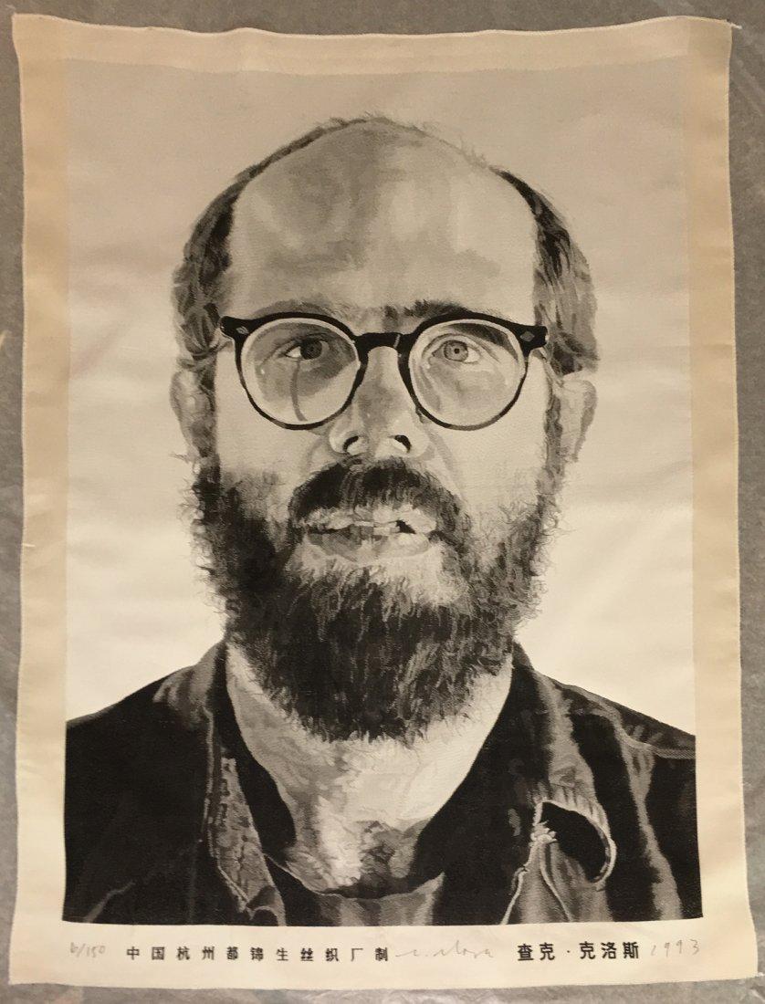 "Chuck Close ""Self Portrait (Tapestry)"""