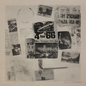 """Robert Rauschenberg """"features From Currents, #59"""""""