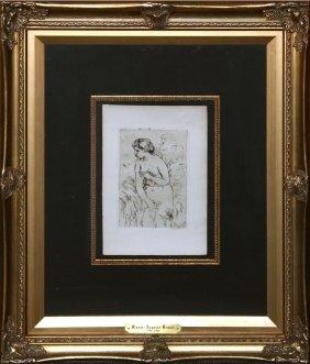 "Pierre-auguste Renoir ""baigneuse Debout, A Mi Jambes."""