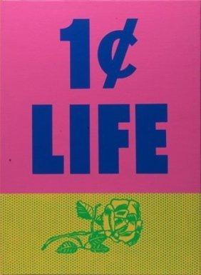 """Roy Lichtenstein """"one Cent Life"""" Original Silkscreen"""