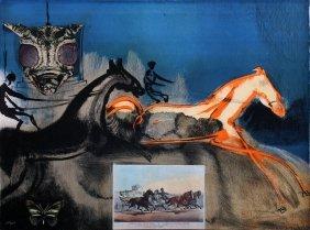 """Salvador Dali """"american Trotting Horses Ii"""""""