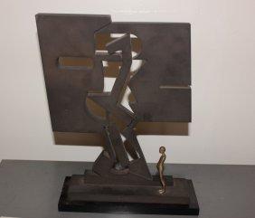"Ernest Trova ""perspective Shadow Man"" Statue"