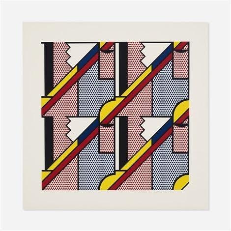 """Roy Lichtenstein """"Modern Print"""""""