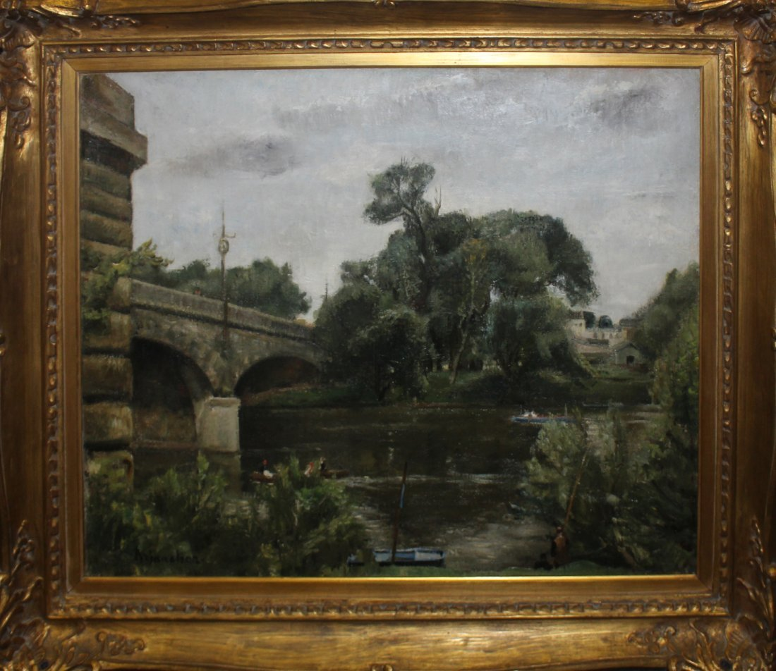 Maurice Brianchon original oil painting