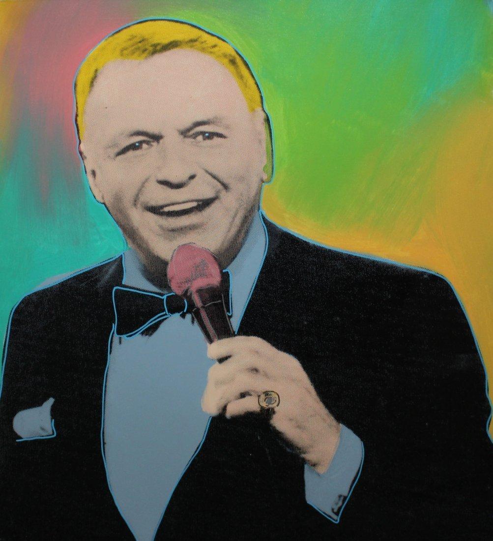 "Steve Kaufman ""Vegas Crooner - Frank Sinatra"""