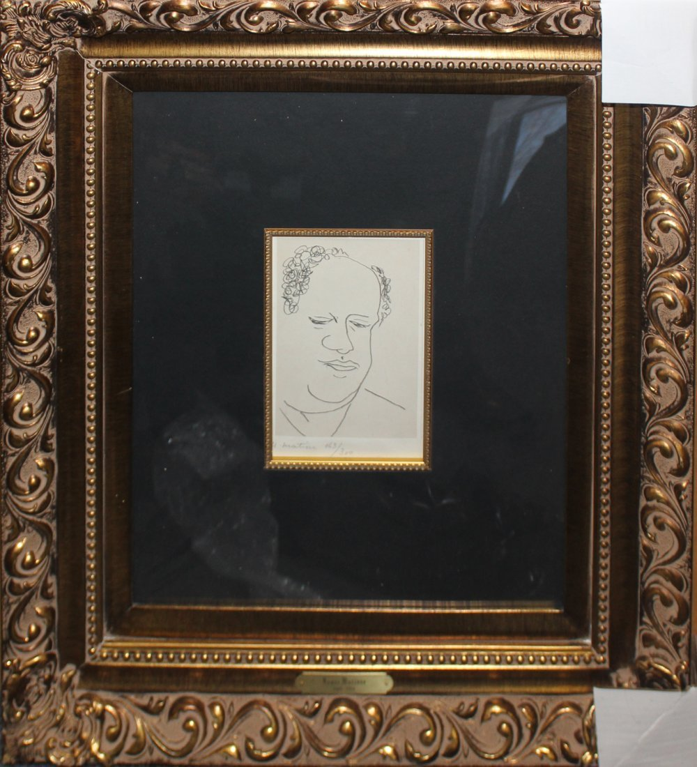 "Henri Matisse ""Portrait de Rene Lerich"""