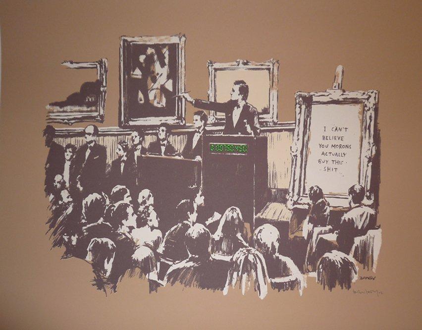 """Banksy \""""Morons - Sepia\"""""""
