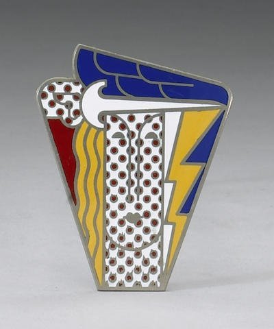 "Roy Lichtenstein ""Modern Head Enamel Pin"""