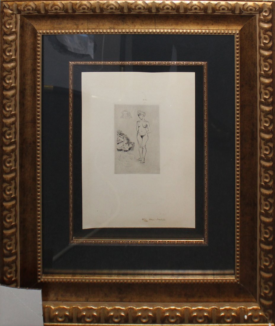 """Henri Matisse """"Deux nus, deux tetes d'enfants"""""""