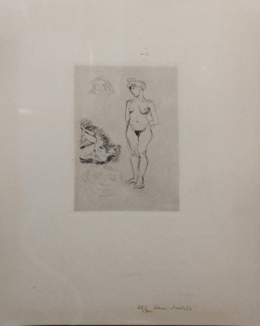 """Henri Matisse """"Deux nus, deux tetes d'enfants"""" - 2"""