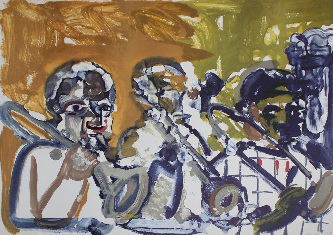 "Romare Bearden ""Brass Section, Jamming at Minton's"""