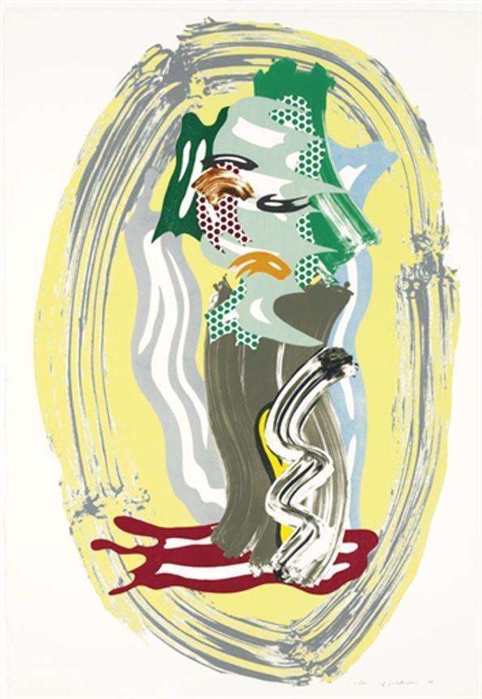 """Roy Lichtenstein """"Green Face"""""""