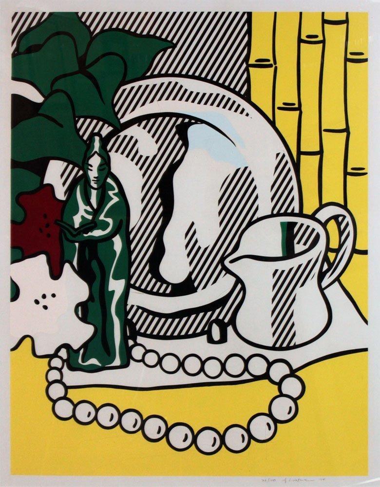 """Roy Lichtenstein """"Still Life with Figurine"""" - 2"""