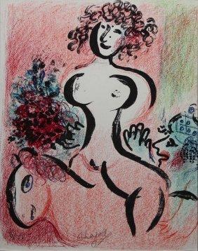 "Marc Chagall ""ecuyere Au Bouquet"""