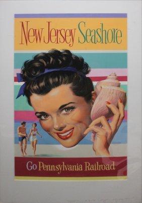 Pennsylvania Railroad Maquette Original Vintage Poster